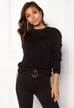 Rut & Circle Lisa Fluffy Knit Black Bubbleroom.se