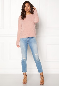 Rut & Circle Lisa Fluffy Knit Dusty Pink Bubbleroom.se
