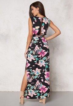 Rut & Circle Livia Long Dress Black Comb Bubbleroom.se