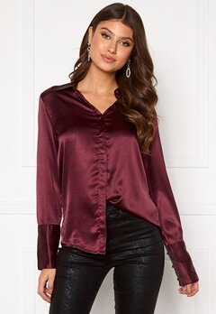 Rut & Circle Lucy Shirt Wine Red Bubbleroom.se