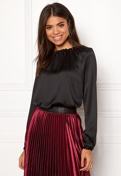 Rut & Circle Maci Frill Neck Blouse Black Bubbleroom.se