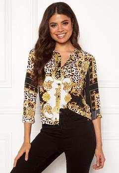 Rut & Circle Nicole Shirt Yellow Print Bubbleroom.se