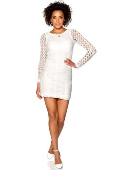 Rut & Circle Nicolina Dress 002 Optical White Bubbleroom.no