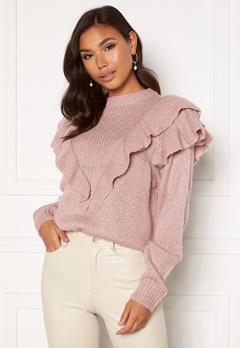 Rut & Circle Nina Frill Knit Dusty Pink Bubbleroom.se
