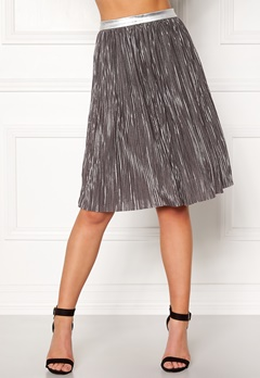 Rut & Circle Nina Pleat Skirt Silver Bubbleroom.se