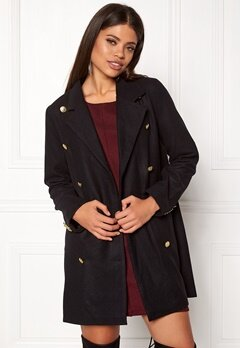 Rut & Circle Nor Button Coat Black Bubbleroom.se