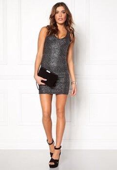 Rut & Circle Nora metallic dress 052 Black/Silver Bubbleroom.no