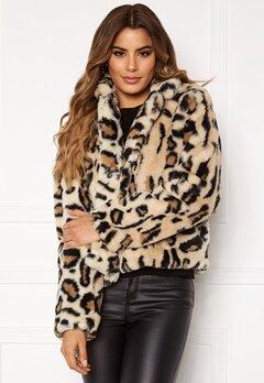 Rut & Circle Nova Faux Fur Jacket Leo Print Bubbleroom.se