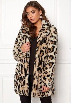 Rut & Circle Nova Faux Fur Leo Jacket Leopard Bubbleroom.se