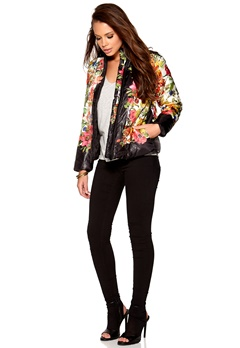 Rut & Circle Price Tulip jacket Black Flower Bubbleroom.se