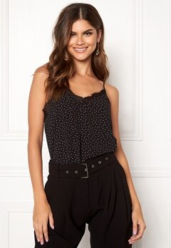 Rut & Circle Print Lace Singlet Black Bubbleroom.se