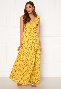 Rut & Circle Serina Maxi Dress Yellow Flower Bubbleroom.se