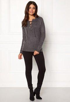 Rut & Circle Sofi Lace Up Knit Grey Melange Bubbleroom.dk