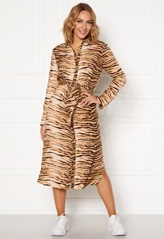 Rut & Circle Sofi Shirt Dress Tiger Print Bubbleroom.se
