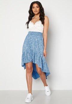 Rut & Circle Telma Asymmetric Skirt Blue Print bubbleroom.se