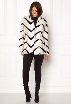 Rut & Circle Trisha Fur Coat Black/white Bubbleroom.fi