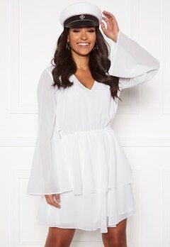 Rut & Circle Tuva Frill Dress White Bubbleroom.se