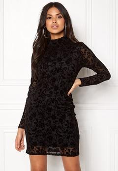 Rut & Circle Velvet Print Dress Black Bubbleroom.se
