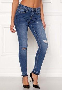 Rut & Circle Victoria Destroyed Jeans Dark Wash Bubbleroom.se