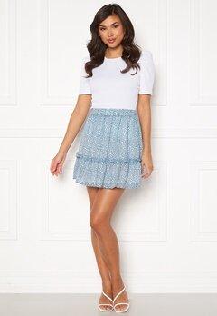 Rut & Circle Vivian Skirt Mid Blue/ White Leo Bubbleroom.se