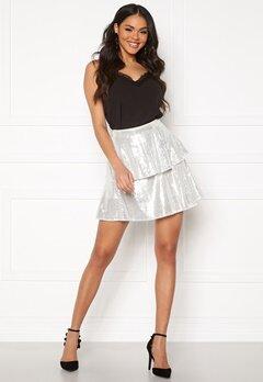 Rut & Circle Yasmin Skirt Silver Sequins Bubbleroom.se