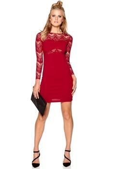 Sally & Circle Nora Dress 874 Wine Red Bubbleroom.no