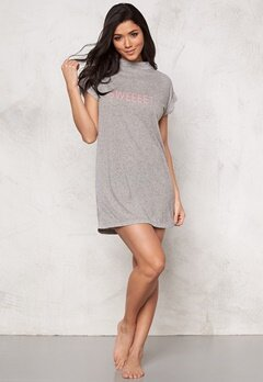 Sally & Circle Perla T-shirt Dress Lt Grey Melange Bubbleroom.fi