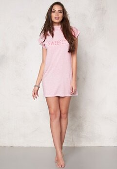 Sally & Circle Perla T-shirt Dress Pink Bubbleroom.fi