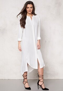 Samsøe & Samsøe Elme long shirt Clear Cream Bubbleroom.fi