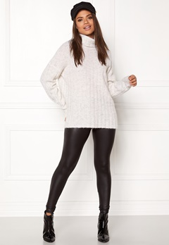 Samsøe & Samsøe Nor t-n Sweater White Mel Bubbleroom.no