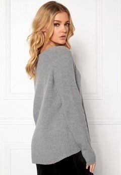 Samsøe & Samsøe Zera v-n Sweater Grey Mel. Bubbleroom.no