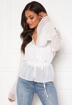 Sandra Willer X Bubbleroom Bell sleeve blouse White Bubbleroom.se