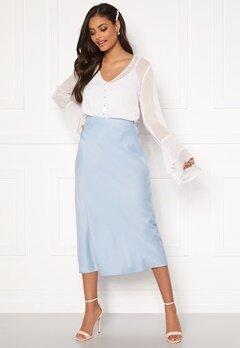 Sandra Willer X Bubbleroom Bias cut skirt Light blue Bubbleroom.se