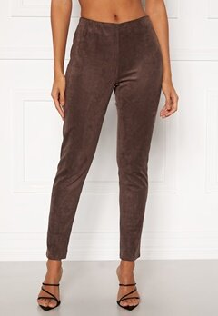 DRY LAKE Sansa Trousers 207 Brown Faux Suede Bubbleroom.se