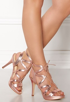 SARGOSSA Chic Nappa Leather Heels Rose Gold Bubbleroom.se