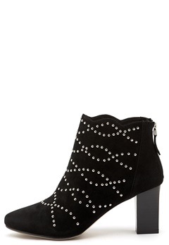 SARGOSSA Deluxe Suede Booties Black With Gold Bubbleroom.fi