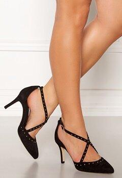 SARGOSSA Glitzy Suede Heels Black Bubbleroom.se