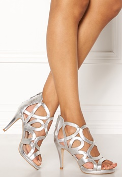 SARGOSSA Redefined Silver Leather Heels Silver Bubbleroom.fi