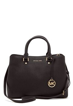 Michael Michael Kors Savannah LG Satchel Bag 001 Black Bubbleroom.se