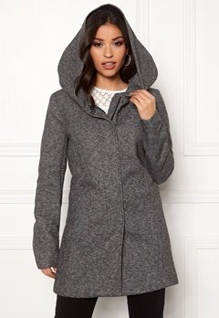 ONLY Sedona Light Coat Dark Grey Melange Bubbleroom.se