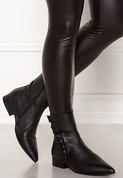 SELECTED FEMME Alexia Leather Frill Boot Black Bubbleroom.se