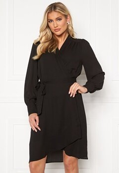 SELECTED FEMME Alva LS Wrap dress Black Bubbleroom.se