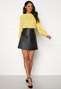SELECTED FEMME Bobi MW Leather Skirt Black Bubbleroom.se