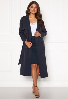 SELECTED FEMME Bren LS Trench Coat Night Sky Bubbleroom.se