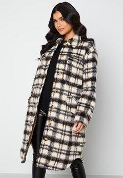 SELECTED FEMME Caron Wool Shirt Jacket Snow White Check bubbleroom.se