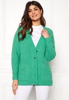 SELECTED FEMME Clova LS Knit Cardigan Gumdrop Green Bubbleroom.se