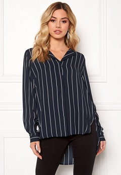 SELECTED FEMME Dynella stripe L/S Shirt Creme Bubbleroom.se
