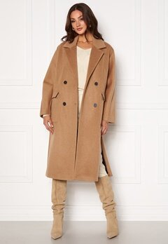 SELECTED FEMME Element Wool Coat Tigers Eye Bubbleroom.se