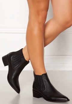 SELECTED FEMME Elena New Leather Boot Black Bubbleroom.se