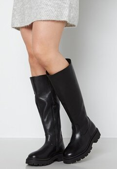 SELECTED FEMME Femma Leather Boot Black bubbleroom.se